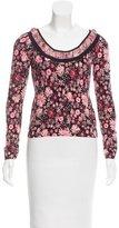 Blumarine Knit Floral Print Top
