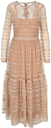 RED Valentino Tiered Long Dress