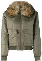 Army Yves Salomon - fur lined bomber - women - Rabbit Fur/Polyester/Racoon Fur - 34