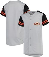 Stitches Youth Gray/Black San Francisco Giants Team Jersey