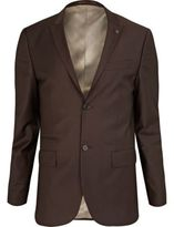 River Island MensBrown skinny suit jacket