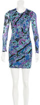 Torn By Ronny Kobo Long Sleeve Abstract Print Dress