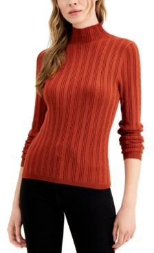 Hooked Up by IOT Juniors' Ribbed Cable-Knit Sweater