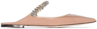 Jimmy Choo Bing embellished strap flat pumps