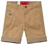 Ikks Camel and Navy Polka Dot Shorts
