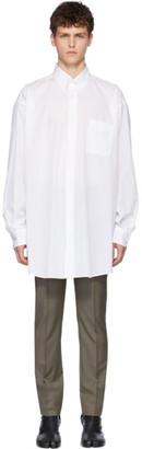 Maison Margiela White Oversized Voile Striped Shirt