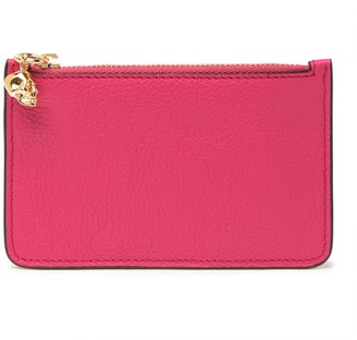 Alexander McQueen Key Ring Pebbled Pouch