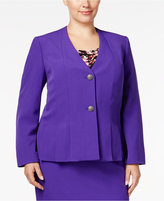 Kasper Plus Size Pleated Two-Button Blazer