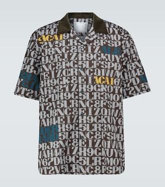 Sacai Printed short-sleeved shirt