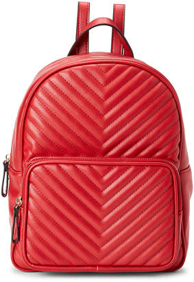 BCBGeneration Red Amelia Chevron Backpack