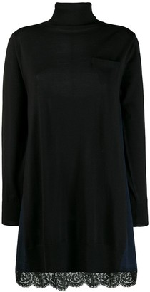 Sacai Roll Neck Jumper Dress