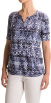 FDJ French Dressing Batik Side-Ruched Shirt - Short Sleeve (For Women)