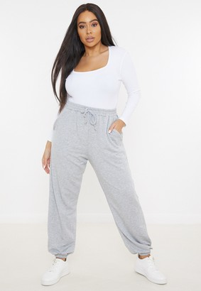 Missguided Plus Size Grey 90S Joggers