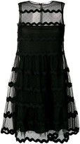 RED Valentino tulle tiered mini-dress