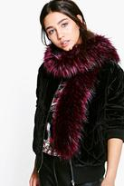 Boohoo Ruby Tipped Faux Fur Scarf