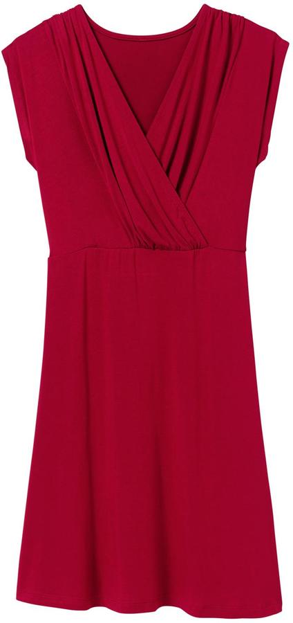 Pink Lotus Shirred Cross Dress