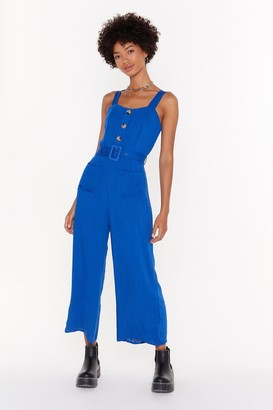 Nasty Gal Womens Let's Keep This Casual Jumpsuit - Blue - 6