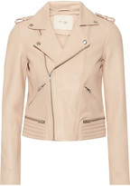 Maje Leather Biker Jacket - Blush