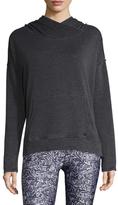 Betsey Johnson Cotton Hooded Split Hem Sweater