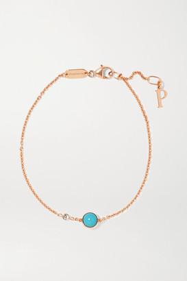 Piaget Possession 18-karat Rose Gold, Turquoise And Diamond Bracelet