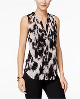INC International Concepts Sleeveless Pintucked Blouse, Only at Macy's