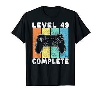 Mens 49th Birthday Men Gaming Level 49 Complete 49 Years Gamer T-Shirt