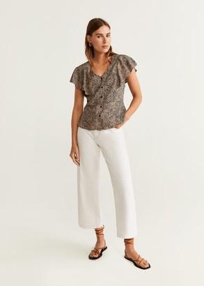 MANGO Leopard print blouse off white - 2 - Women