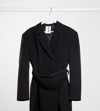 Collusion blazer dress with fanny pack