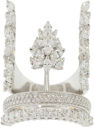 Yeprem Jewellery Round, Marquise, and Pear Diamond Ring