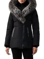 Thumbnail for your product : Mackage Adali Silver Fox Fur-Trim Coat