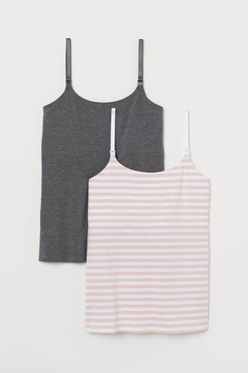 H&M MAMA 2-pack nursing tops