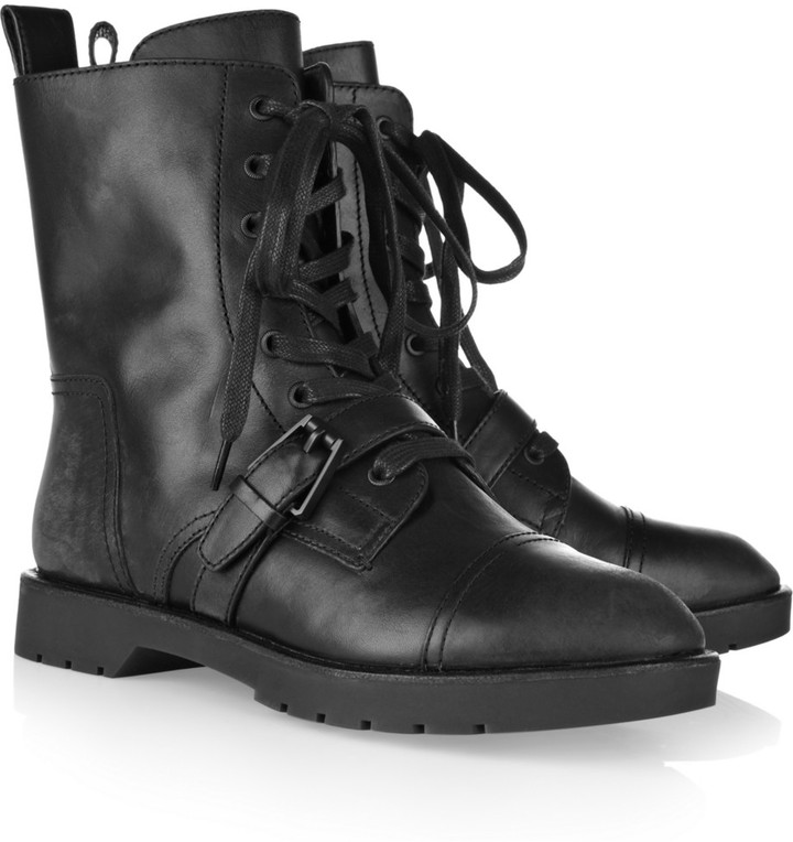 Alexander Wang Distressed-leather ankle boots