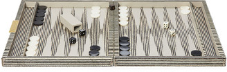 Pigeon and Poodle Bailey Large Striped Backgammon Game Set