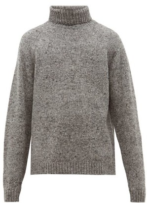 The Row Asher Camel Blend Roll Neck Sweater - Mens - Grey