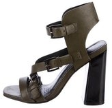 Rebecca Minkoff Leather Buckle-Accented Sandals