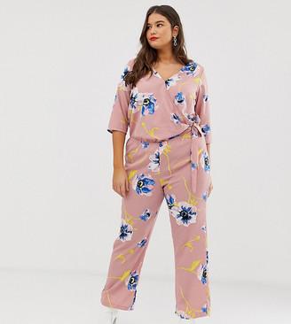 Junarose floral wrap jumpsuit