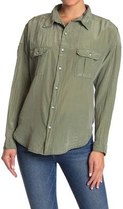 NSF Johnna Long Sleeve Pocket Shirt