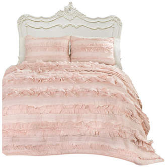 Triangle Home Fashion Belle Pink Blush 3-Piece Quilt Set, Twin