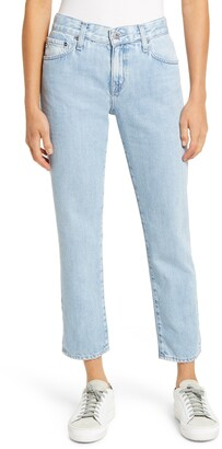 AG Jeans The Ex-Boyfriend Ripped Ankle Slim Jeans