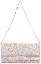Jimmy Choo Lydia clutch - women - Lamb Skin/Crystal/Leather - One Size