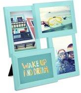 Umbra Pane 4-Opening Desktop Collage Frame, Surf Blue