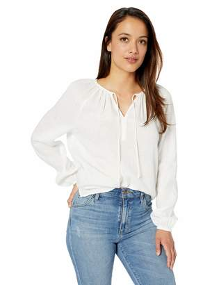 NYDJ Women's Linen Peasant Blouse