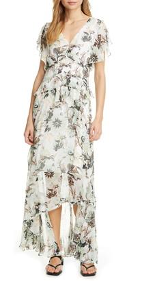 Diane von Furstenberg Carol Ruffled Chiffon Maxi Dress