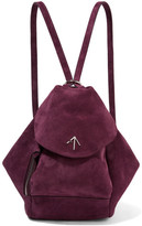 Manu Atelier Fernweh Mini Suede Backpack - Burgundy