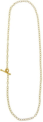 Cathy Waterman 16 Inch Tiny Lacy Chain Yellow Gold Necklace