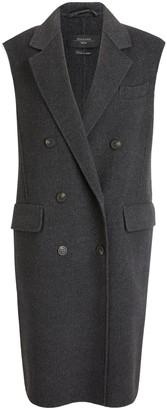 Max Mara Diego Wool Gilet, Dark Grey
