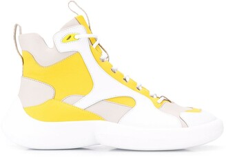 Camper Lab hi-top panelled sneakers