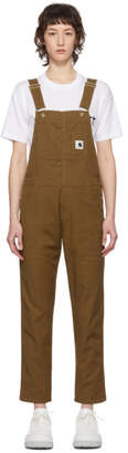 Carhartt Work In Progress Brown Bib Overalls