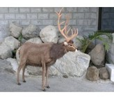 The Well Appointed House Hansa Toys Stuffed Male Reindeer