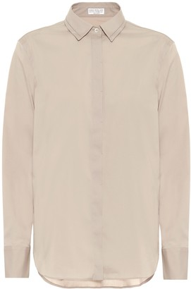 Brunello Cucinelli Cotton-blend shirt